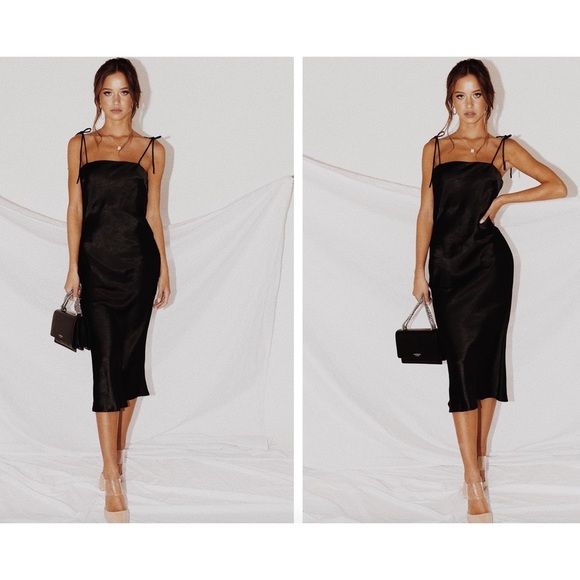 Princess Polly Dresses & Skirts - Princess Polly Elan Silky Maxi Dress Size 4